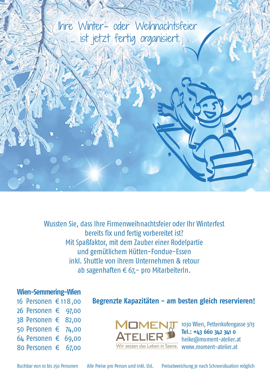 Angebot Weihnachtsfeier.Ihre Winter Oder Weihnachtsfeier Ist Jetzt Fertig Organisiert